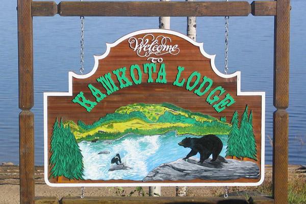 Kamkota Lodge Sign